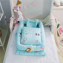 Portable crib bed perimeter anti-collision surrounded Cotton multi-piece set containing core can disassembly and washing cotton to keep warm