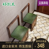 Good comrades folding shoe stool wall hanging shoe stool wall stool home entrance Invisible Solid wood folding chair