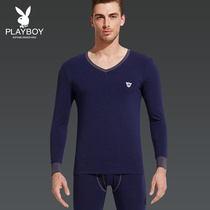 Playboy mens warm underwear set thin autumn clothes autumn pants Cotton modell middle-aged cotton sweaters autumn and winter