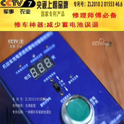 Motorcycle charging system intelligent detector circuit digital display car electric vehicle battery inspection