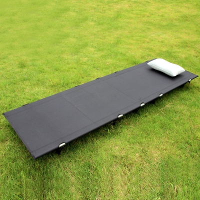 Aluminum outdoor folding bed ultra-light marching bed 2kg portable single tent bed 17CM high moisture insulation.