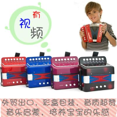 High-end children 8 bass 17 key children accordion childrens musical instruments toys tone piano paint birthday gift