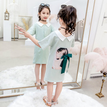 Girls summer dress 2019 new Korean version of the children's short-sleeved girl super fairy long T-shirt skirt