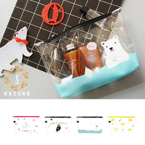 UPICK Original Life Transparent pvc collection bag illustration bag bag makeup bag travel supplies collection bag.