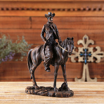Western style equestrian crafts ornaments cowboy knight statue equestrian creative ornaments eight feet Dragon BCL768807
