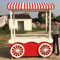 Trolley anti-corrosion wood sales van mobile vending car scenic cinema mobile wooden house selling car stalls mobile car