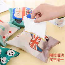 Simple cotton and linen Korean cloth pumping paper sets of coffee table printing paper towel bag portable