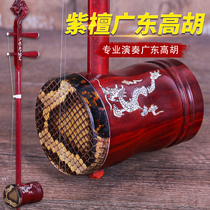 Red sandalwood Guangdong High Hu Dragon Red Sandalwood embedded shell high Hu Cantonese opera Qin send accessories