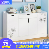 Shoe cabinet Home door large capacity entrance cabinet living room imitation wood storage cabinet locker balcony door shoe rack