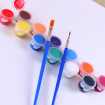 Kindergarten art DIY Painting coloring 3 ml six-connected hand-painted acrylic pigment childrens painting 10