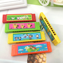 Childrens toys 5 hole harmonica kindergarten pupils beginner play musical instruments music mini harmonica gift gift