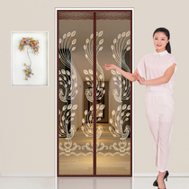 Velcro anti-mosquito door curtain magnetic gauze door home summer screens gauze self-adhesive free punch self-loading removable