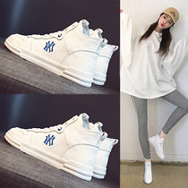 Womens shoes 2019 new autumn shoes tide shoes fall wild casual sports ins white daddy autumn high white shoes