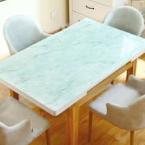 Marble tablecloth imitation marble table mat waterproof anti-hot anti-oil pvc net red glass dining table coffee table tablecloth