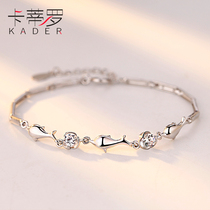 925 sterling silver fashion bracelet Female student girlfriend Korean version simple personality small fresh jewelry to give girlfriend gifts