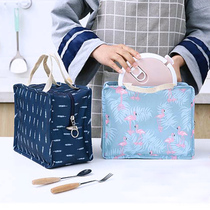 Carry-on insulated bag meal bag carry-on when the bag small fresh portable canvas lunch box bag female aluminum foil lunch bag