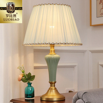 European lamp bedroom bedside table lamp creative simple American study warm romantic home decorative ceramic lamps