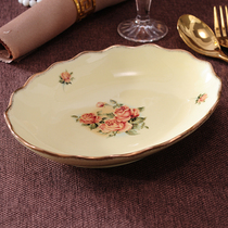 European ceramic oval deep plate fish plate curry plate egg salad plate fruit plate rice plate tableware set.