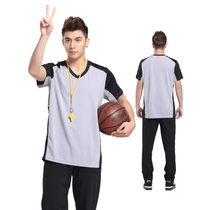 Basketball referee clothing Short sleeve top referee clothes suction sweat breathable customizable print print picture male and female Xia