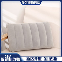 Outdoor travel square inflatable pillow padded aircraft portable air cushion air Sleep Pillow lunch break pillow cushion lumbar pillow