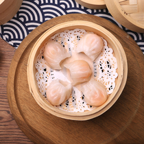 Ding Sanji Shrimp Dumpling King Fresh Shrimp Crystal Dumpling Steamed Dumpling Steamed Tea Canton Tea House Snack30g x 35