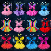 Halloween Wings Fairy Stick Children's Yarn Jupe Propprincess Angel Magic Costume Wonderful Show Butterfly Flower