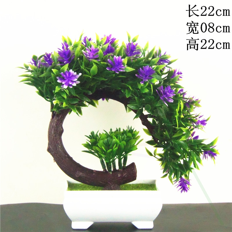Potted plant simulation flower home decoration wine cabinet TV cabinet ornaments craft desk indoor office living room.