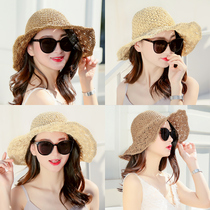 875f3af4 Hat female seaside summer sun sun straw hat travel big Eaves beach sun hat  summer leisure