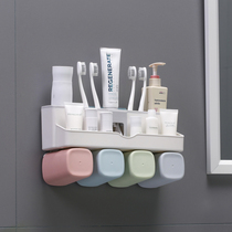 Automatic Extrusion toothpaste Set toothbrush rack suction wall type wash rack toothbrush tube toothpaste rack toothbrush locker rack