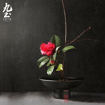 Nine earth hand-crafted Zen Chinese flowers round large flower prop tea table with neoclassical flower pot day small primary flow.