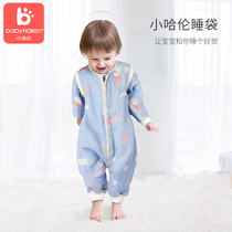 Baby sleeping bag gauze baby leg air conditioning detachable sleeve cotton artifact summer thin section newborn children anti-kick was
