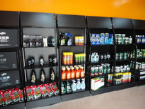 Oil display rack lubricating oil display rack paint metal display shelf paint tile glue special display shelves