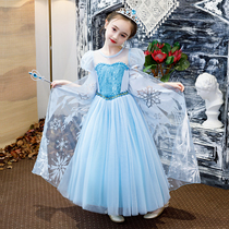 Frozen 2 princess dress autumn elsa girls dress children's Aisha Aisha Aisha genuine dress