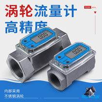 Digital flow flowmeter K24 methanol diesel gasoline kerosene chemical water electronic liquid turbine metering meter