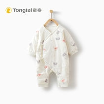 Tong Thai autumn and winter New newborn plus cotton bodysuits 0-3 months baby clothes men and women baby lace butterfly clothing