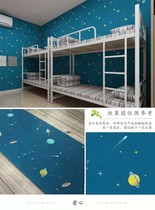 Cute stitch cartoon pvc wallpaper boy bedroom learning table tide student bedroom personality wallpaper dormitory