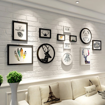 Photo wall decoration simple modern creative wall photo frame combination restaurant corridor background photo wall