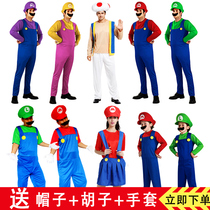 cosplay costumes spectacle annuel Dessins animés Costumes Mario pipe uncle with super Mary clothes