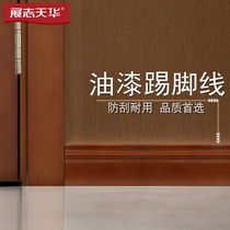 Zhi Tian Hua wooden door kicking line solid wood composite paint door custom foot line living room anti-scraping D1 D2