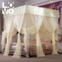 lovo home textiles three-door retractable sleeping net reinforcement mosquito net luxury palace wind