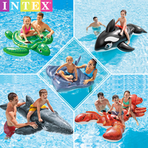 INTEX eau gonflable monter ins net rouge piscine eau jouet flottant lit inclinable anneau de natation animal.