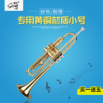 Recommended trumpet instrument professional playing level students beginners adult universal button trumpet down B tune buy a gift 5