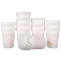 Effective paper cup 9570 thick disposable paper cup high temperature 250ml 50 bags