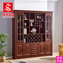 Solid wood color dinner side Cabinet new Chinese wine cabinet against the wall modern minimalist restaurant cabinet American Cabinet multi-function lockers