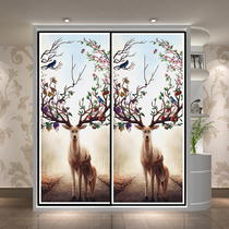 New custom wardrobe door solid wood sliding sliding door American color carved door bedroom wall cabinet wardrobe door custom