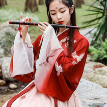 Improved hanfu female immortal Qi elegant Chinese style Sakura costume Super fairy ancient student elements waistming daily