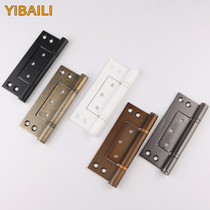 According to the Bailey American gray black 5-inch mother hinge wooden door slotted-free off-axis mute stainless steel gold hinge