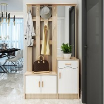 New clothing hat cabinet door Cabinet hanger shoe cabinet combination with mirror entrance multi-functional entrance cut off