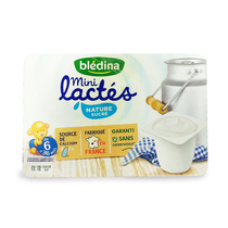 Baby room temperature yogurt France imported Danone Bledina beileti complementary snacks 6 months original flavor
