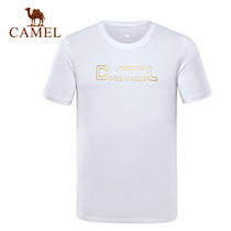 (2019 new)camel outdoor mens T-shirt spring and summer round neck short sleeve casual breathable printing casual shirt